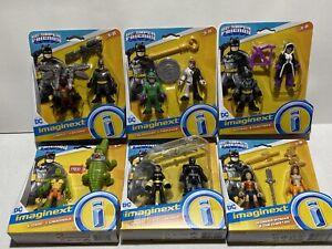 Mattel Imaginext DC Super Friends 2pk Action Figure Lot Batman Wonder Woman