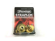 Dunlop Strap Locks - Guitar - Flush Mount Strap Retainer System Brass