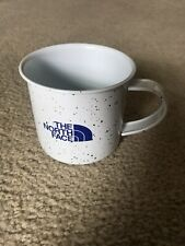 The North Face Logo White/Purple Camping Campfire Enameled Coffee Cup Mug Metal