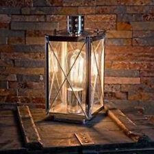 Eglo 49279 Donmington lampada da tavolo/ studio in acciaio cromo/vetro chiaro