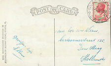 Stamp Australia 4&1/2d red KGV1 on Canberra postcard sent 1953 to Holland