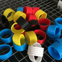 5Pcs Racket Handle Rubber Ring Stretchy Tennis Racquet Band Overgrips US Stock