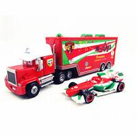 1:55 Disney Pixar Cars NO.95 86 43 F1 Mack Truck Hauler Diecast Mcqueen Kids Toy