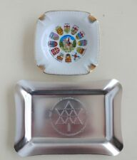 1867 Centennial of Canadian Confederation 1967 Metal Ashtray and Cermic Ashtray