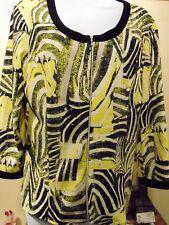 Frank Lyman  Women's Abstract Full front zipper  Blouse Medium