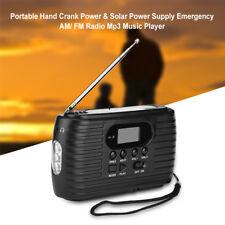 Urgence Radio LED solaire Radio AM / FM Portable Lecteur de musique Pour MP3