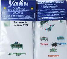 YAHU MODELS yma7257 1/72 PE Mitsubishi A6M5 Zero Verde QUADRO STRUMENTI
