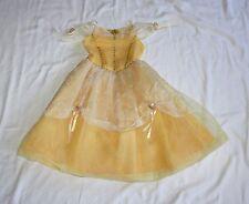The Disney Store Medium 7-8 Girls Belle Beauty Beast Gold Gown Costume Halloween