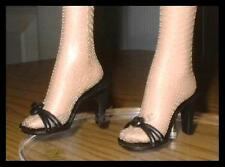 "BLACK High Heel Sandals Doll SHOES fit 16"" Marley TYLER WENTWORTH Gene"