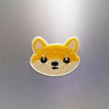 Shiba Inu Patch — Iron On Badge Embroidered Motif — Face Head Animal Dog Cute