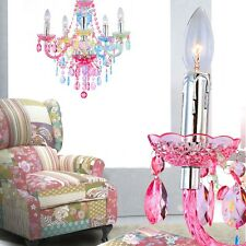 Luxury Chandelier Ceilings Hanging Lamp Multicolour Crystals Kitchen Cottage