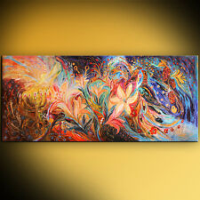 The Herald of dawn: Mixed technique figurative abstract art by Elena Kotliarker