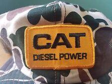 Vintage CAT Diesel Power Snapback Trucker Hat Cap Mesh Canvas Frogskin Camo