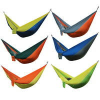 Portable Double Person Travel Camping Nylon Fabric Parachute Hammock Sleep Swing