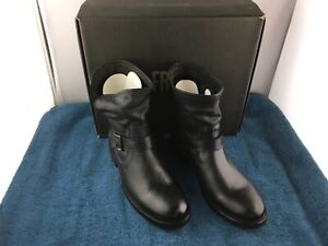 FRYE NATALIE SHORT ENGINEER BOOTS - Size 11M - [Charcoal] - Gently Used