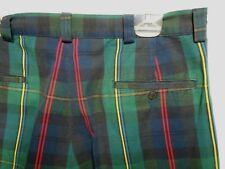 Ralph Lauren Mens sz 34X32 Green Red Blue Striped Cotton Golf Pants