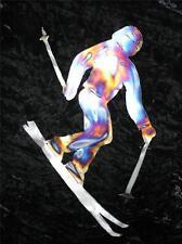SKIER SKIING SKI Home Metal Wall Art Decor Lodge Snow Sport Interior Accent S3