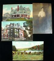 - Lot of 4 Early 1900s Alliance Ohio Postcards 1 Named RPPC Childrens Home