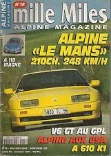 MILLE MILES 18 ALPINE GTA V6 TURBO LE MANS A110 1300 V85 ALPINE V6 GT A610 K1