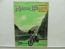 March 1959 Motorcycling Magazine Scooter Royal Enfield BMW Sidecar Lucas L9811