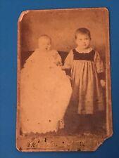 WAHOO NEBRASKA, ANDERSON PHOTOGRAPHY-2 SAMLL CHILDREN. C1800's??