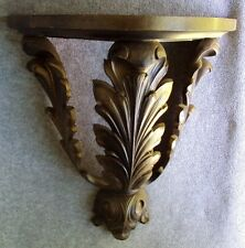 Vintage Homco Wall Shelf Plate Display Bronze and Black Acanthus Leaf #3515