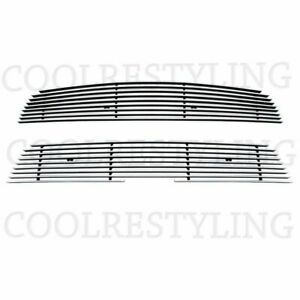 FOR CHEVY SONIC 2012 2013 2014 UPPER & BUMPER BILLET GRILLE INSERTS