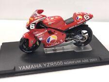 yamaha yzr500 norifumi abe 2001 1/24 n50 + fasci grandes motos compétition