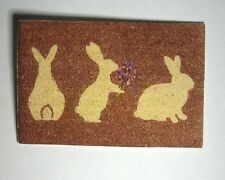 Dollhouse Miniature Easter  Welcome Mat or Rug