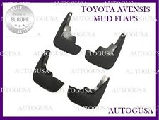 NEW FULL SET TOYOTA AVENSIS 2003 - 2009 T250 RUBBER MUD FLAPS SPLASH GUARDS