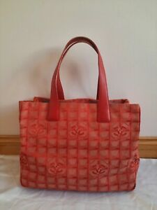 Authentic Chanel New Travel Line, Nylon, Red Colour Shoulder Handbag, Medium S.