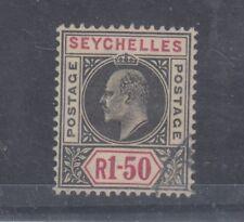More details for seychelles kevii 1902 1 rupee 50c vfu j1313