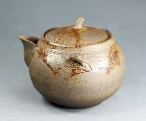 Tokoname Hand-made Mogake Hohin Teapot by Jin, #jin070 : 100*D92*H83mm, 260ml