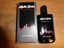 OLD SPICE NIGHT SPICE COLOGNE 4 FL.OZ. NIB 1989 NO.3775 MADE BY SHULTON, INC.