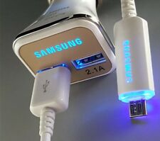 SAMSUNG LED FAST CAR CHARGER + LED USB CABLE for Samsung Galaxy S7 Edge Note 4 S