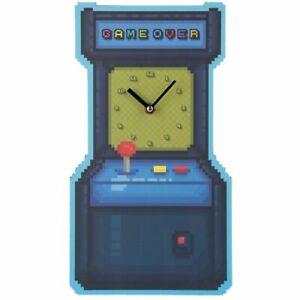 Fun Novelty Game Over Retro  Arcade Game Shaped Decorative Wall Clock