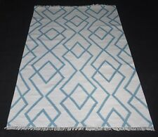 100% Wool Kilim Rug Home Decorative 5x8 Feet Rectangle Geometric Area Rug