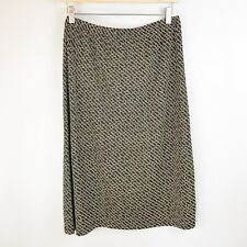 NWT STYLE & CO. Kenya Print Stretch Knit Career Pencil Skirt Black Taupe SZ M