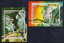 Guinea - Protection of Nature Parrots - 2 x MNH Block