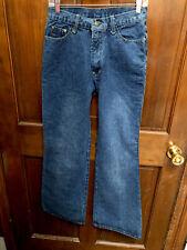 Fashion Wear Boot Leg Jeans Blue Denim Wey Biker Boarder
