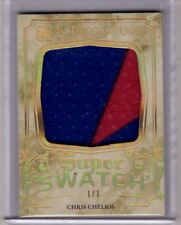 CHRIS CHELIOS 15/16 Leaf In The Game Used Super Swatch Jersey GOLD SPECTRUM #1/1