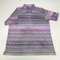 Adidas Climacool Golf Polo Shirt Men's XL Short Sleeve Purple Gray Polyester