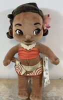 "Disney Store Exclusive Animators 12"" Princess Moana Plush Toddler Toy Doll NEW"