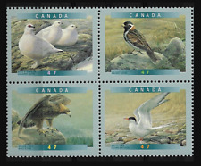Canada Stamps — Block of 4 — 2001, Birds of Canada #1886@1889 (1889a) — MNH
