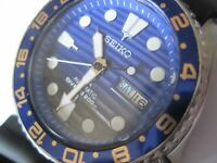 SEIKO 200M AUTO MECHANICAL SCUBA DIVER DAY/DATE WATCH 7S26-0020 SAVE THE OCEAN