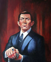 OLD HOUSE BARNABAS PORTRAIT ON CANVAS (DARK SHADOWS)