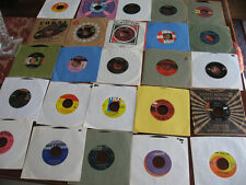 UNSEARCHED COLLECTION OF 25 RECORDS (45 RPM) WITH SLEEVES      LOT I