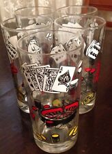 Vintage Bar Ware Glasses Poker Chess Gambling Gaming Theme Set 5