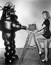 """Anne Francis, Robby the Robot, Forbidden Planet, Print 11x 14"""""""