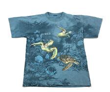 Vtg 1994 Habitat Sea World All Over Turtle Print T-Shirt Single Stitch Men's L